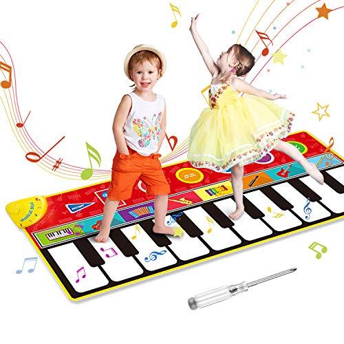 OMEW Tapis de Piano 148*60 CM Tapis de Musique Bébé, Tapis de Danse Musicale 8 Sons d