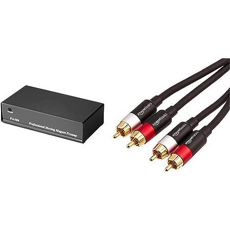 Hama Stereo Phono Vorverstärker Pa 506 Für Plattenspieler Inkl Netzadapter 230v 50hz 3000ma Cinchkabel 0 9 M Amazon Basics Pbh 20217 Cinch Audiokabel 2 X Cinch Stecker Auf 2 X Cinch Stecker Audio Hifi