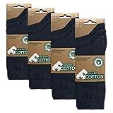 BIOBASICS Herren und Damen 100prozent BIO Baumwolle Socken Sensitiv Komfortb& Business-Socken Ges&heitssocken ohne Gummi (12 Paar) Blau 43-46