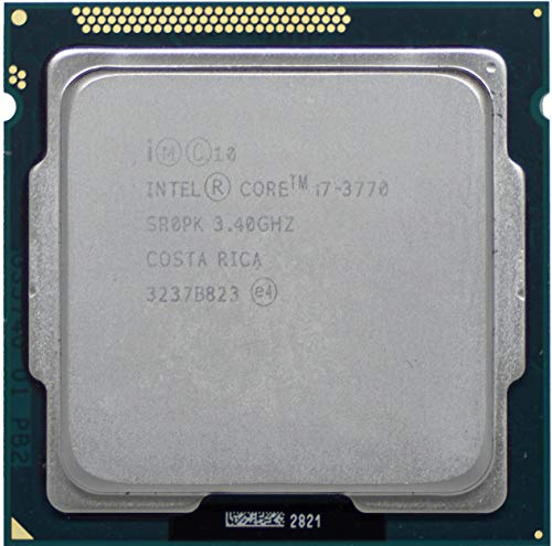 Intel Procesador SR0PK CM8063701211600 Core i7-3770 3.4GHz Socket H2 LGA1155 (reacondicionado)