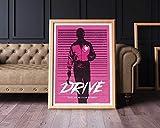 MugKD LLC Alternative Drive Ryan Gosling Poster Movie Cinema Geek Wall Art Home Decor Geek Print [No Framed] Poster Home Art Wall Posters (24x36)