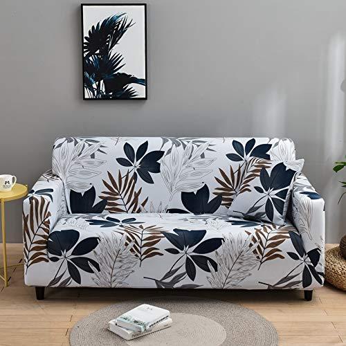 ASCV Peach Blossom Pattern Sofabezug Stretch Elastic Sofabezüge für Wohnzimmermöbelbezug Couchbezug A22 2-Sitzer