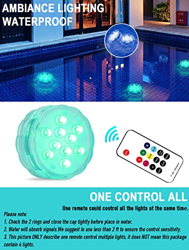 Qoolife Rechargeable Underwater Led Lights- 3.3