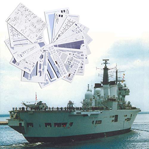 TuToy 1:400 3D Papier Model Diy Engeland Invincible Class Vliegtuigen Vervoerder Boot Boot Kit Zeilboten Model