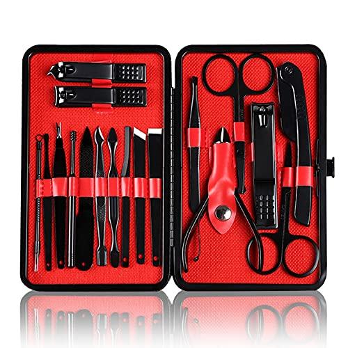 Maniküre-Set, 18 Nagelknipser, Maniküre-Set, professionelle Nagelwerkzeuge für Männer, Frauen und Eltern