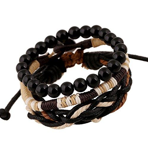 JZHJJ eenvoudige en stijlvolle klassieke paar armband Vintage multi-Layer mannen touwtje armband sieraden bevat: armband, armbanden vrouwen, armband koord, armband mannen, armbanden koppels