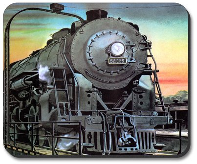 Steam Locomotive Train Mouse Pad - by Art Plates