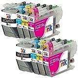 Starink 8 Pack Kompatible für Brother LC-3219XL LC3219XL LC 3219XL Multipack Druckerpatronen für Brother MFC-J5330DW MFC-J5335DW MFC-J5730DW MFC-J5930DW MFC-J6530DW MFC-J6930DW MFC-J6935DW Drucker