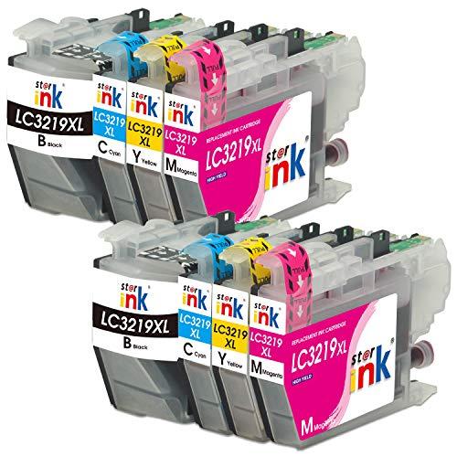 Starink 8 Pack Kompatible für Brother LC-3219XL LC 3217 Multipack Druckerpatronen für Brother MFC-J5330DW MFC-J5335DW MFC-J5730DW MFC-J5930DW MFC-J6530DW MFC-J6930DW MFC-J6935DW Drucker