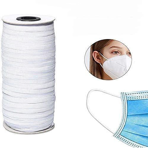 AIJOAIM Elastische band spoel brede vlakke naaiband elastiekjes voor doe-het-zelf naaien handwerk (wit)