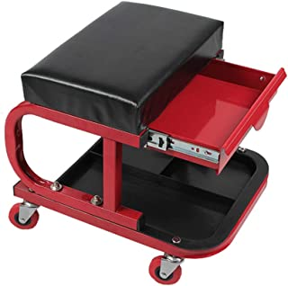 Creepers Stool Chair,250Lbs Loading Capacity Creepers Seat with 4 Rotating Casters for Garage Workshop Auto Repair