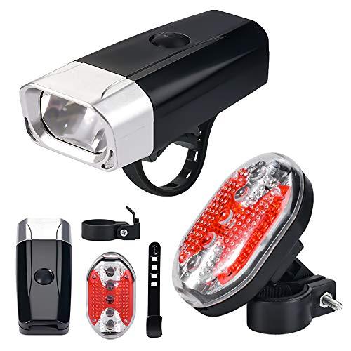Fahrradlicht- Fahrrad Rücklicht, wasserdichte Fahrradrücklicht LED, 4 Lichtmodus-Vorder- und Rücklicht, LED-Fahrradlichter, perfekt für Fahrräder, Outdoor, Camping