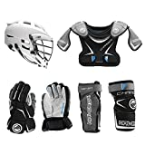 Lacrosse Unlimited Maverik Charger EKG Youth Starter Set 4-Piece (Cascade CS-R) - No Stick (Youth Small)