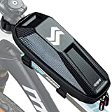 upgear Top Tube Bike Bag - Waterproof Bike Pouch with Zipper for Phone, Key, Wallet, Adjustable Velcro Latches,...