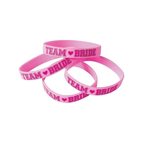 Amscan 396255 Team Bride Multipack Rubber Bracelets