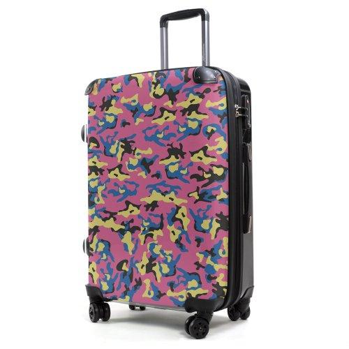 HAUPTSTADTKOFFER - Style Hartschalenkoffer Koffer Trolley Reisekoffer Reisegepäck, individuell gestalten, Geschenkidee, Design: Camouflage Pink