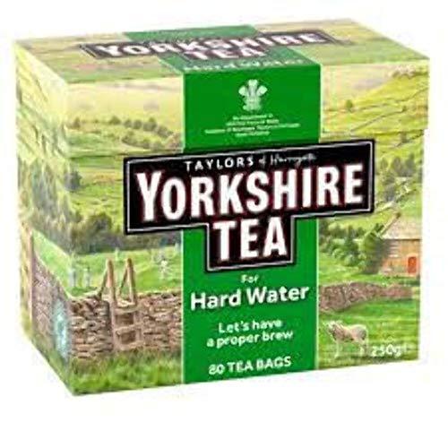 Taylors of Harrogate Yorkshire, Tè Nero Hard Water 80 bustine di te - 1 unitá