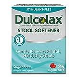 Dulcolax Stool Softener, Liquid Gels, 25 Ct