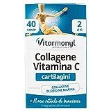 Vitarmonyl COLLAGENE VITAMINA C  Integratore 40 capsule  Benessere delle Cartilagini  Collagene di origine marina  Registrato Ministero Salute Italiano