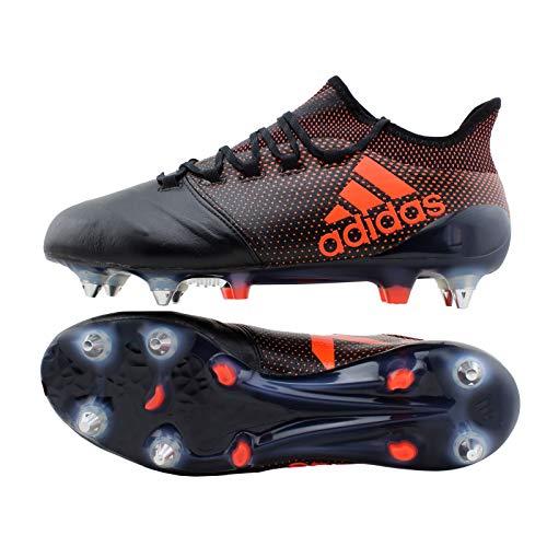 adidas X17.1 Leder SG schwarz/rot UK 8,5 // 42 2/3