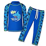 TFJH E Swimsuits for Boys UV 50+ Sun Protective Swimming Custumes Navy Long 116/122