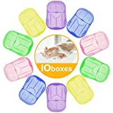 10 Boxen Seifen Blättchen - 200 Stück Einweg Seifenblätter, Mini Reisen Papierseife Reiseseife...