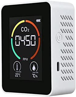 Fltaheroo Temperatuur & Vochtigheidsmeter, Luchtkwaliteit Monitor, CO2 Detector, 3-in-1 digitale luchtverontreiniging Kool...