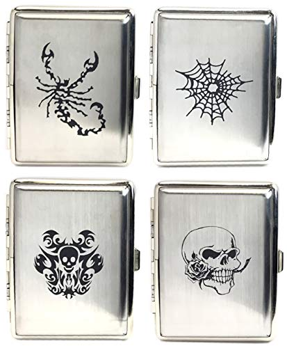 Greatest Selection High Shine Assorted Celtic Designs Crushproof Metal Cigarette Case Wallet, Holds 18 King Size (Shorts), 3102PICT (2)