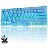 Tastiera Meccanica da Computer Gaming, USB Cablata 82 Tasti Anti-Ghosting Blue Switch Tastiera Gioco Arcobaleno Multicolore Illuminata Backlit, Mechanical Keyboard Compatta Ergonomica Blu
