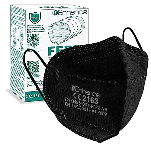 ENHANCE Mascherine FFP2 10 pezzi con marchio CE protettive, Maschera di protezione FFP2 da 10 pz mascherine FFP2