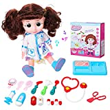 Pickwoo Kids Doctor Kit£¬ with Electronic Talking Doll Medical Supplies Playset Pretend Role Play Set 18 Pieces Nurse Instruments Interactive Toys Gift for Girls Boys Toddlers