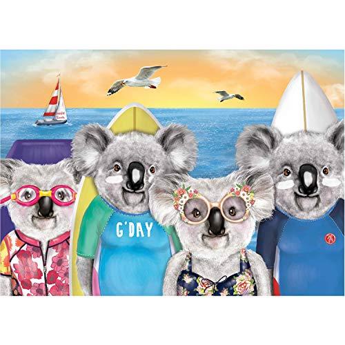 TUFEIMJ Puzzle adulti,Pezzi Jigsaw Puzzle bambino,Puzzle 1000 pezzi,Puzzle impossibili,1000 puzzle, puzzle per adulti impegnativi (Koala)