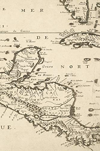 1656 Map of Central America - A Poetose Notebook / Journal / Diary (50 pages/25 sheets)