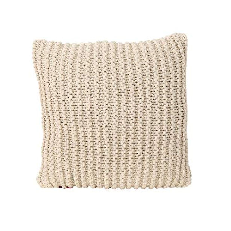 一時的ゴールデンメンバーTate Knitted Cotton Pillow, Beige [並行輸入品]