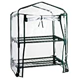 casa pura® Mini Greenhouse Casabella (2 Tier - 68x49x96cm) | Portable Grow Tent, Available in 3 Sizes