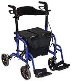 Aidapt VP184BLUE Duo Deluxe Rollator und Transportsitz in Einem, blau -