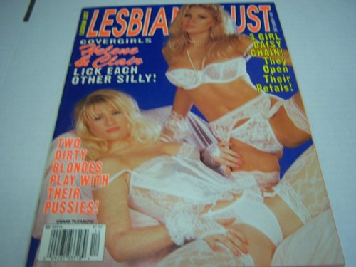 Lesbian Lust Adult Magazine 'Covergirls Helene & Clair Lick Each Other Silly!' December 1995