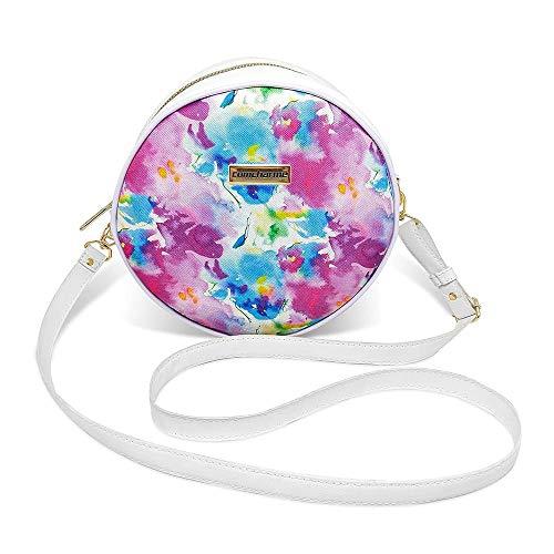 Bolsa Redonda Feminina Lisa Couro Eco Mini Bag Transversal;Cor:Tie Dye