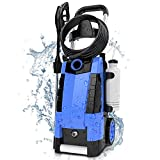 TEANDE 3800PSI Electric Pressure Washer, 3800PSI High Pressure Washer for Cars Fences Patios Garden Cleaning, 2.8GPM 1800W Power Washer (Blue)