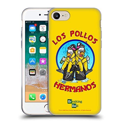 Head Case Designs Licenza Ufficiale Breaking Bad Los Pollos Hermanos 10imo Anniversario Cover in Morbido Gel Compatibile con Apple iPhone 7 / iPhone 8 / iPhone SE 2020