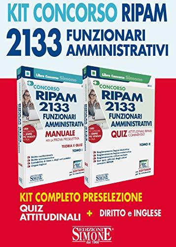 Concorso 2133 funzionari amministrativi RIPAM. Kit completo preselezione. Quiz Attitudinali. Diritto e Inglese. Con software di simulazione