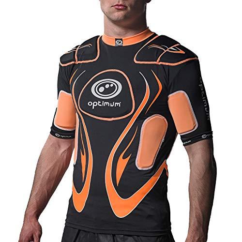 OPTIMUM Protective Top, OptimumTop Protettivo Senior Inferno, Nero/Arancione, X-Large Unisex-Adult