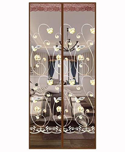 Anti-Moskito-Türvorhang hochwertige magnetische automatische Adsorption Sommer Schlafzimmer Haushalt Bildschirm Türmagnet Doppelabsaugung Trennwand Vorhang Anti-Moskito-Türgarn A1 B80xH210