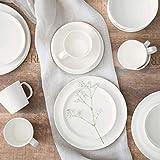 Porzellan Geschirrset 24 tlg. Svea, Weißes Geschirrservice für 6 Personen aus Fine Bone, skandinavisches Design - 2