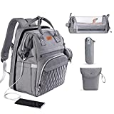 3 in 1 Diaper Bag with Changing Station,...
