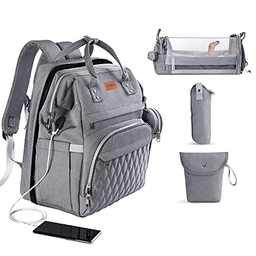 3 in 1 Diaper Bag with Changing Station, ISMGN Large Diaper Bag...