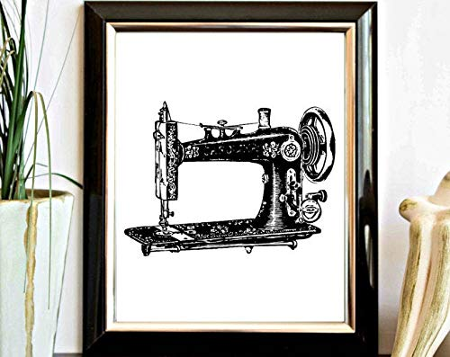 GAVIMAX Vintage Sewing Machine Printable Wall Art - Craft Room Wall Decor Poster - Digital Artwork | Poster No Frame Board for Office Decor, Best Gift for Family and Your Friends 11.716.5 Inch
