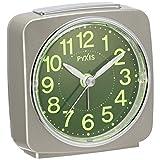 セイコー クロック 目覚まし時計 アナログ 集光樹脂文字板 PYXIS ピクシス 薄金 パール NR440G SEIKO