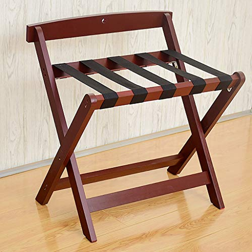 Buy Luggage Rack ,Hotel Room Foldable Solid Wood Suitcase Holder, Luggage Rack Shelving Suitcase B...