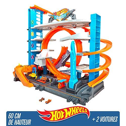 Hot Wheels City Méga Garage, Coffret de Jeu pour Petites Voitures avec Circuit et Pistes,...